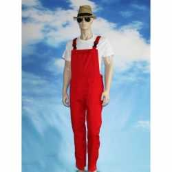 Rode tuinbroek overall feest volwassenen