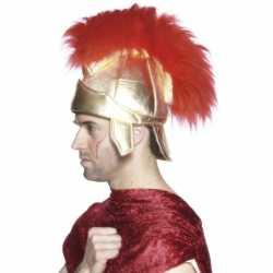 Romeinse hoed rode veren