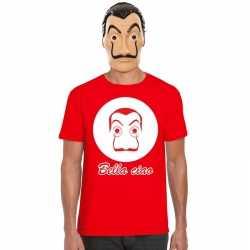 Rood dali t shirt la casa de papel masker heren