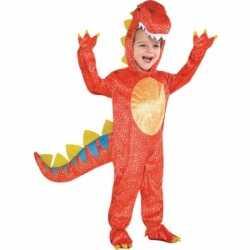 Rood dinosaurus kleding feest kids