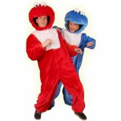 Rood pluche monster kleding