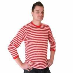 Rood wit gestreepte Dorus truien feest heren