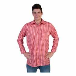 Rood wit overhemd ruitjes