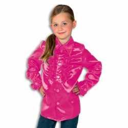 Rouche blouse rouches blouse roze feest jongens roze