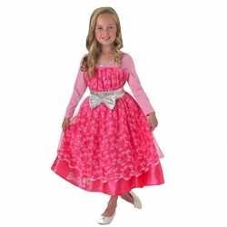 Roze barbie deluxe jurk feest meisjes