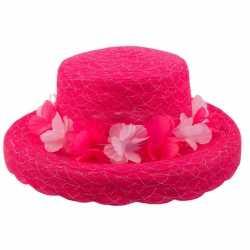 Roze hoed bloemen
