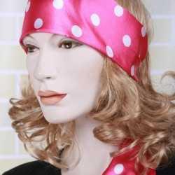 Roze hoofdsjaal feest dames