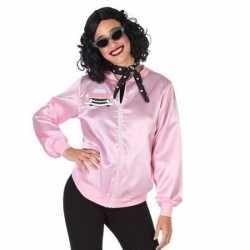 Roze rock and roll verkleed jasje feest dames