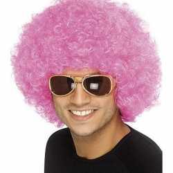 Roze seventies afropruiken