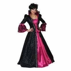 Roze/zwarte barok verkleed jurk feest dames