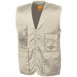 Safari/jungle verkleed bodywarmer/vest beige feest volwassenen
