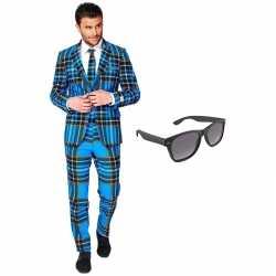 Schotse afgebeeld heren kleding maat 56 (xxxl) gratis zonnebril