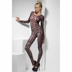 Sexy bodysuit luipaard afgebeeld