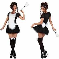 Sexy dienstmeisje verkleed kleding/jurkje feest dames