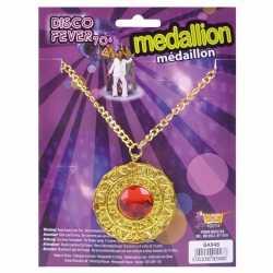 Sjeik medaillon rode steen