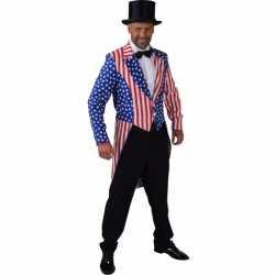 Slipjas amerika stars and stripes feest heren