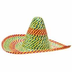 Sombrero hoeden gekleurd 50 centimeter