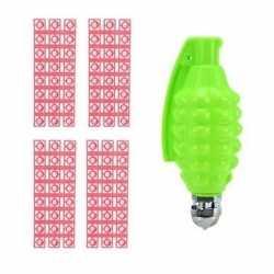 Speelgoed handgranaat plaffertjes 96 schoten groen 14 centimeter