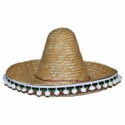 Stro sombrero 25 centimeter feest kinderen