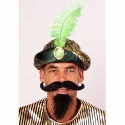 Sultan muts groene veer