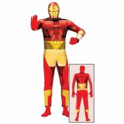Superheld metalen man kleding feest volwassenen