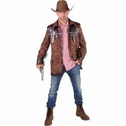 Toppers bruine cowboy jas feest heren