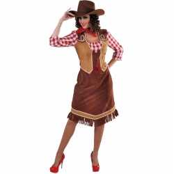 Toppers cowgirl jurk geruite blouse feest dames