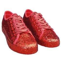 Toppers rode glitter disco sneakers/schoenen feest dames