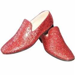 Toppers rode glitter pailletten disco loafers/instap schoenen feest h