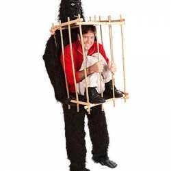 Uniek gorilla gevangene pak