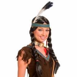 Verkleed indianen pruik feest dames