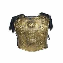 Verkleed schild goud schouderpads