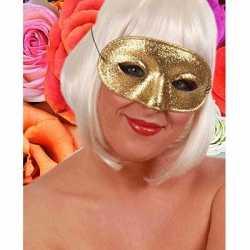Verkleedaccessoire oogmasker goud