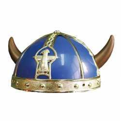 Vikingen helm in het blauw