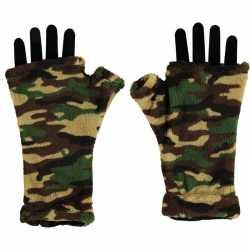 Vingerloze handschoenen camouflage afgebeeld feest volwassenen