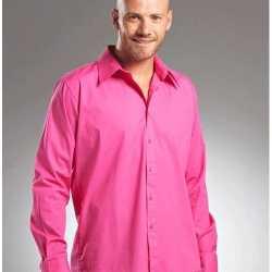 Vrije tijds shirt heren roze manhatten