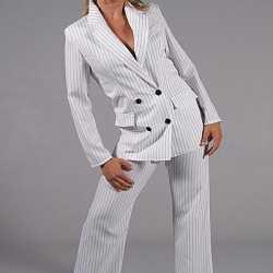 Vrouwen gangster kleding wit