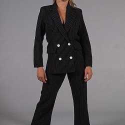 Vrouwen gangster kleding zwart