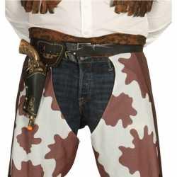 Western cowboy revolver met holster