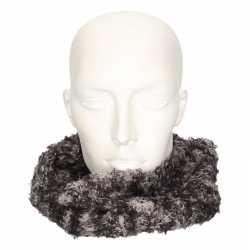 Winter zachte sjaals grijs/luipaard feest volwassenen