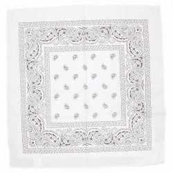 Witte bandana zakdoek 55 bij 55 centimeter