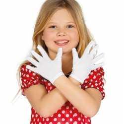 Witte verkleed handschoenen feest kinderen