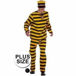 Xl inbreker kleding zwart/geel feest heren