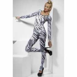 Zebra afgebeeld bodysuit feest dames