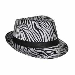 Zebra afgebeeld hoeden