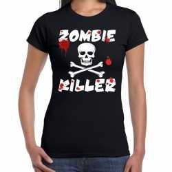 Zombie killer halloween t-shirt zwart dames