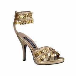 Zomerse sandaal gouden muntjes
