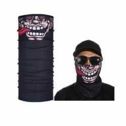 Zwart grappig/funny gezicht biker masker feest volwassennen