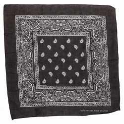 Zwarte bandana zakdoek 55 bij 55 centimeter