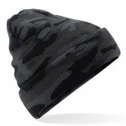 Zwarte camouflage gebreide wintermuts feest volwassenen